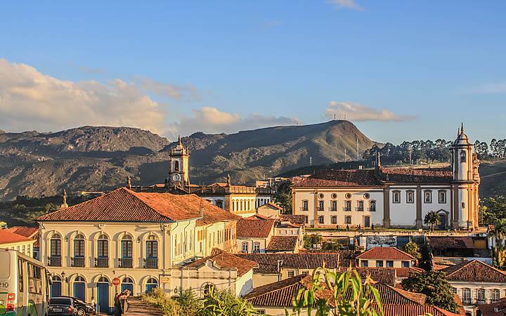 Vista aérea de do centro de Ouro Preto