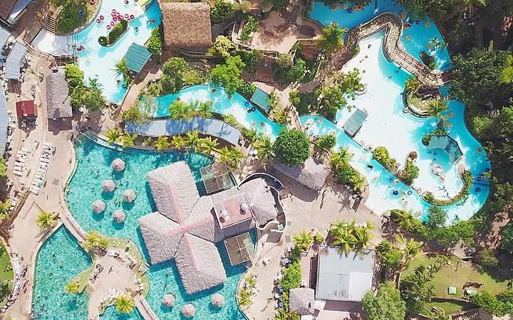 Vista aérea do Rio Quente Resorts