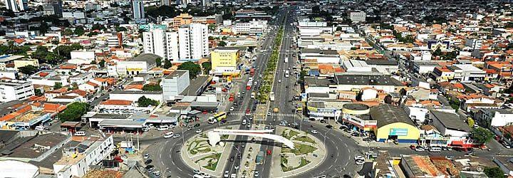 Vista aérea do centro de Feira de Santana