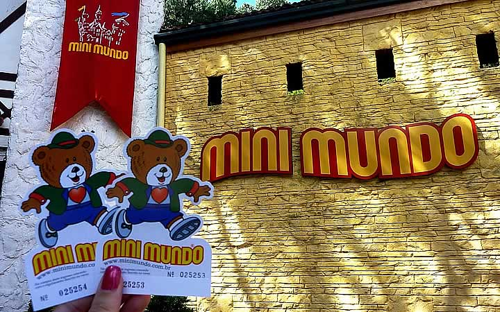 Ingresso do Mini Mundo