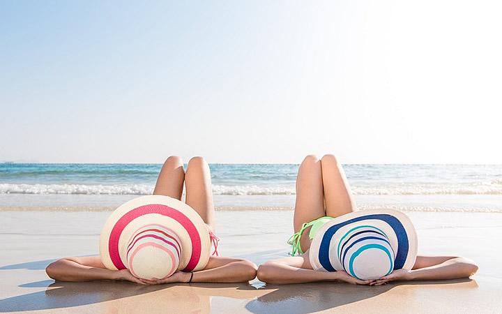 Mulheres em Praia