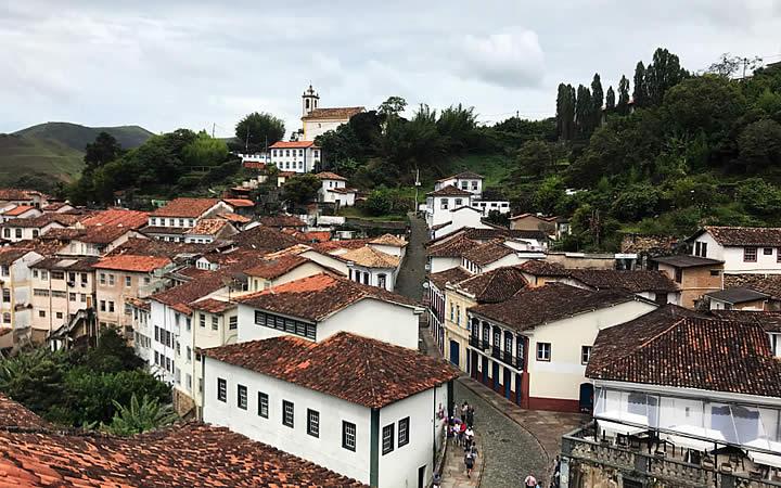 Vista para cidade de ouro preto