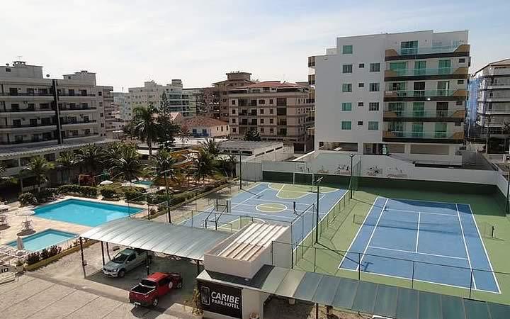 Área de lazer do Hotel Caribe
