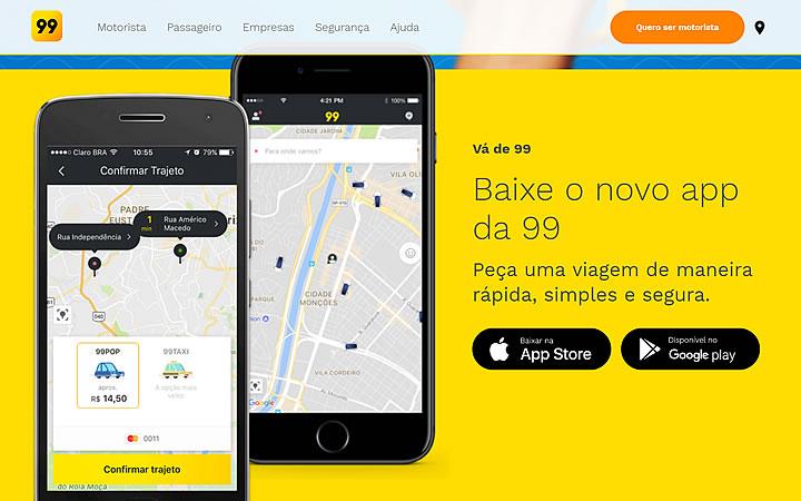 Aplicativo 99 taxi