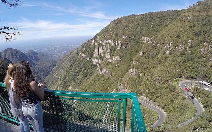 Mirante Principal na Serra do Rio do Rastro