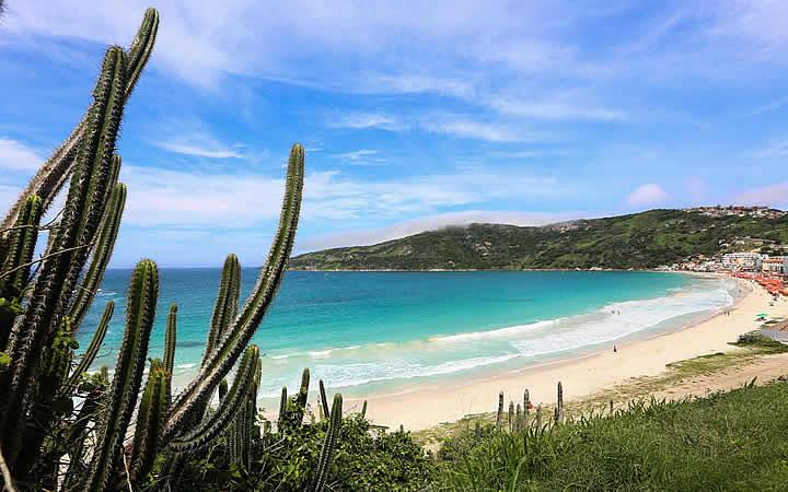 Orla da praia em Cabo Frio
