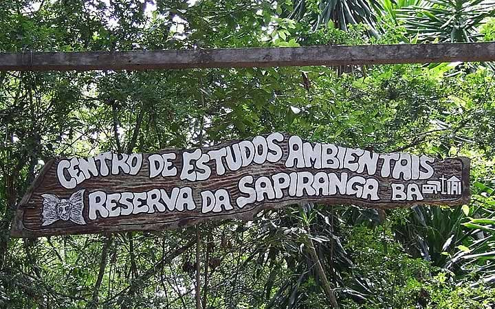 Placa da Reserva de Sapiranga
