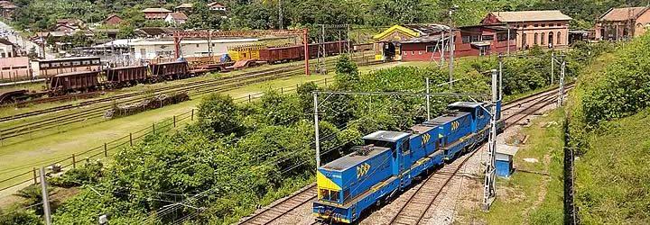 Trem de carga em Paranapiacaba
