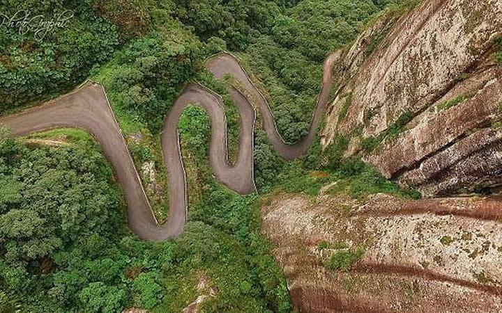 Vista aérea da Serra do Corvo Branco