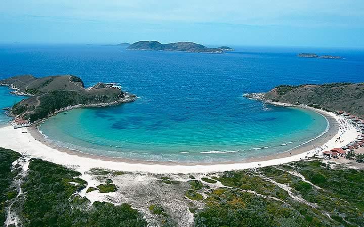 Vista aérea da praia das conchas