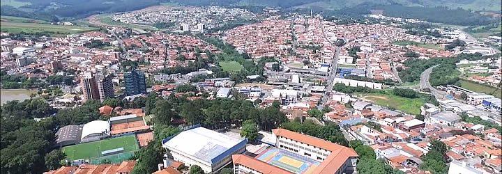 Vista aérea de Bragança Paulista