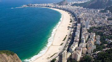 Vista aérea de Copacabana