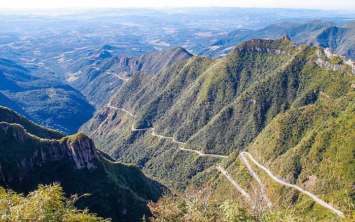 Vista panorâmica da Serra do Rio do Rastro