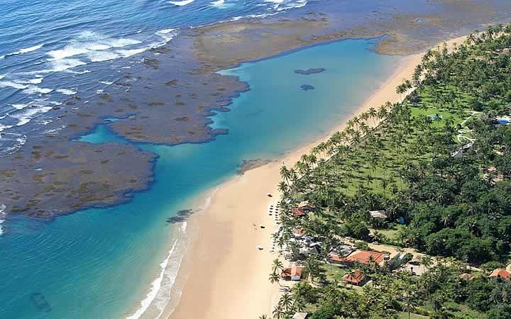 Barra Grande vista aérea da praia - Praias da Bahia