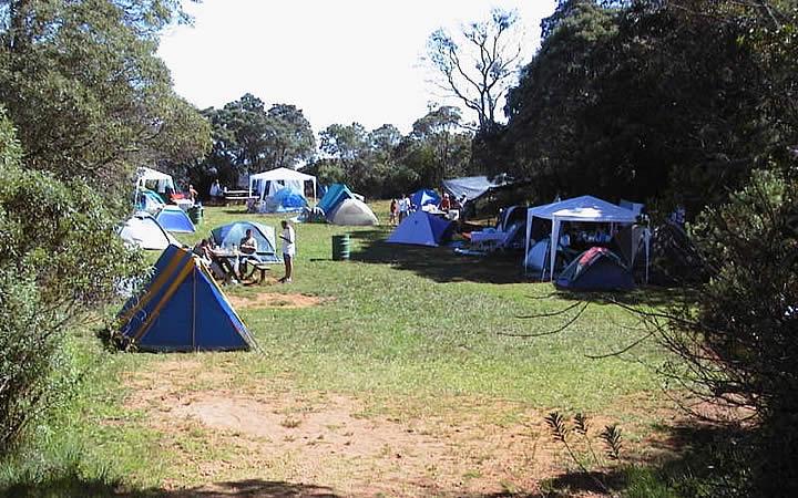Camping no pico da bandeira