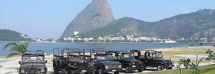 Carros do Jeep Tour Rio