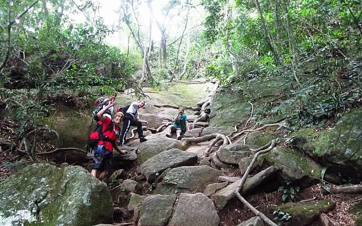 Escalada no parque Nacional da Tijuca