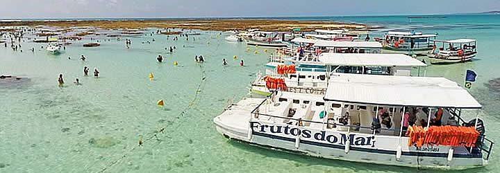 Passeio de barco - Praias de Tamandaré