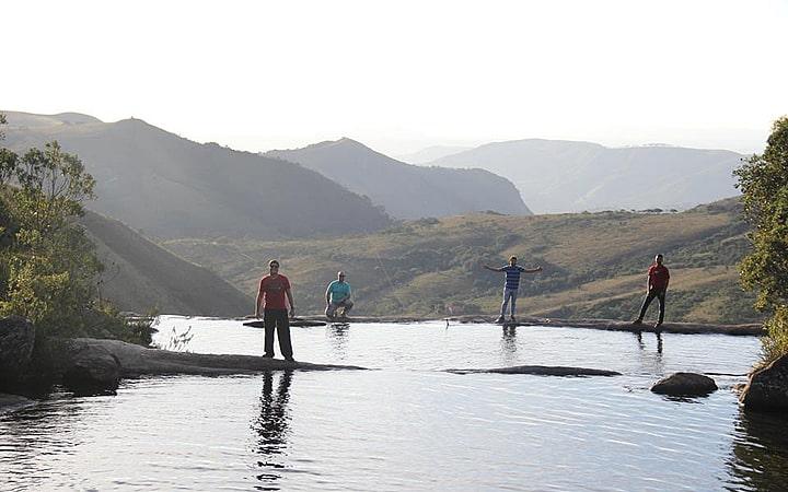 Pessoas na Cachoeira do Juju