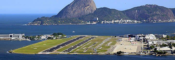 Pista do aeroporto Santos Dumont