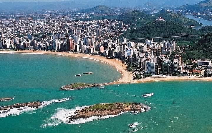 Vista aérea da Praia de Itaparica