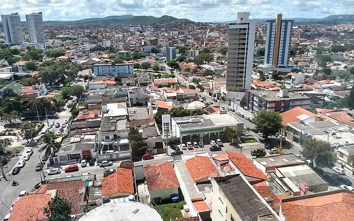 Vista aérea do centro de Caruaru