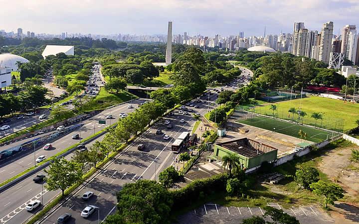 Vista do mirante Museu da Arte Contemporânea da Universidade de São Paulo