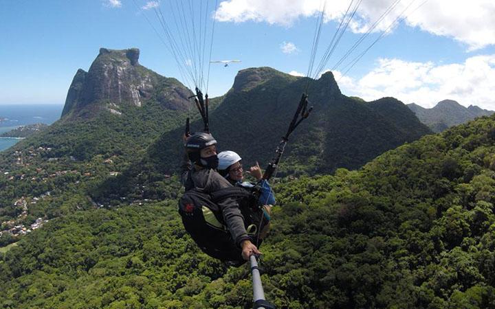 Voo de parapente no Rio de Janeiro - Self