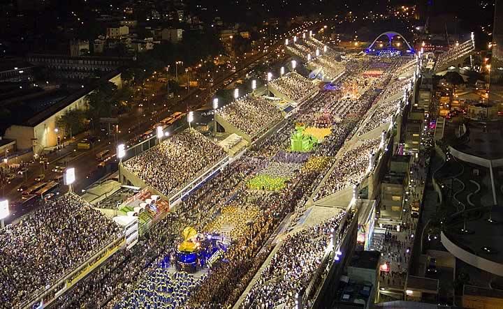 Desfile de carnaval - Rio de Janeiro