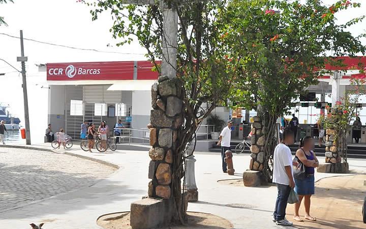 Estação de barcas em Paquetá