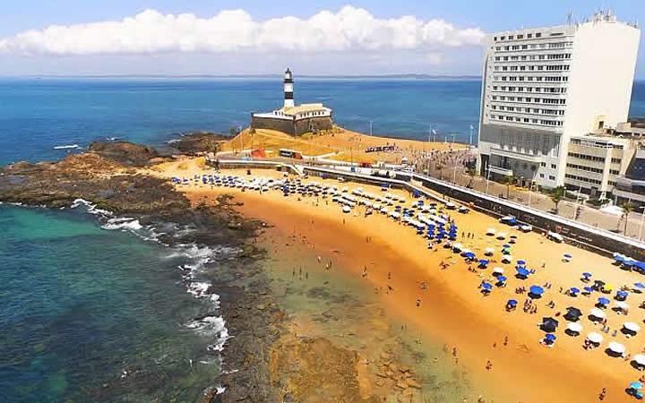 Rio Vermelho - Foto aérea da praia