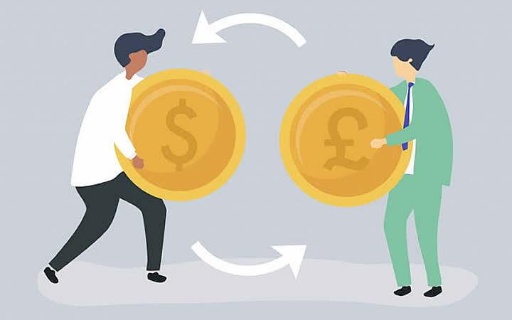 Troca de moedas - Taxa de Câmbio