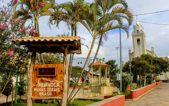 Praça de Aiuruoca Minas Gerais