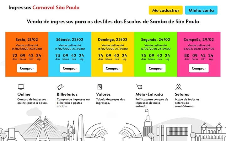Ingressos para Carnaval de São Paulo 2020