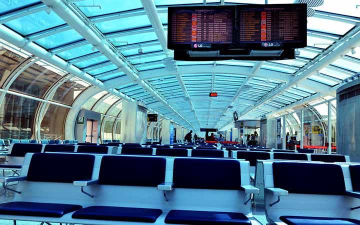 Assentos no Aeroporto Santos Dumont