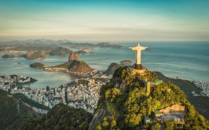 Cristo Redentor e Pão de Açúcar no Rio de Janeiro