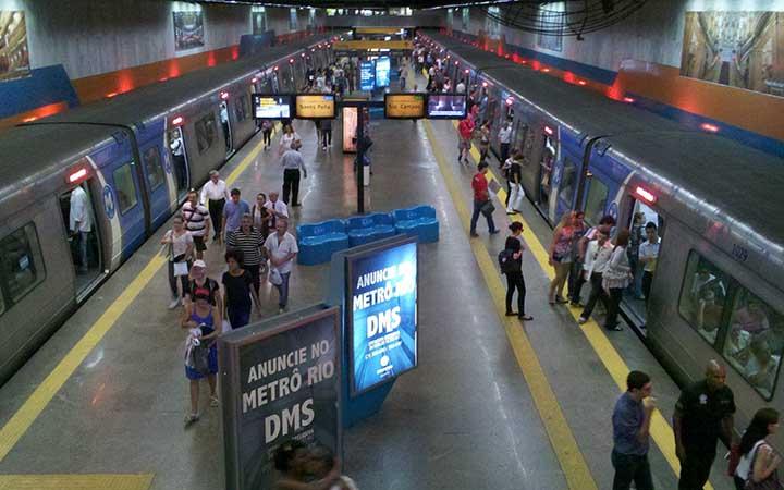 Estação de metrô no Rio de Janeiro