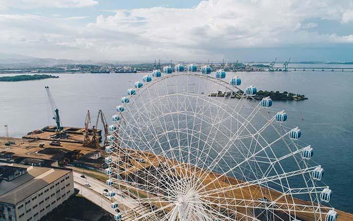 Visão aérea da roda gigante Riostar