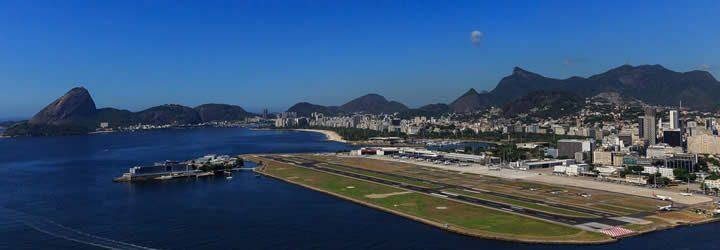 Vista pista Aeroporto Santos Dumont
