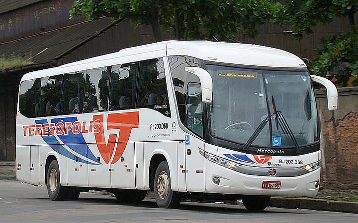 Ônibus da viação Teresópolis
