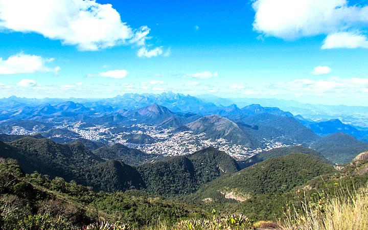 Vista do Mirante do Abrigo em Teresópolis