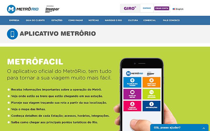 App Metro Rio - Transporte público no Rio - Estação de metrô cinelândia