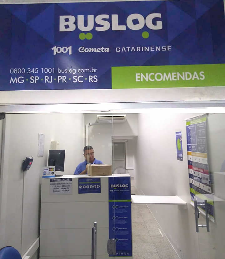 Faixada da Buslog - Serviço de Bagagem Desacompanhada