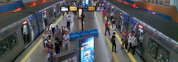 Transporte público no Rio - Estação de metrô cinelândia