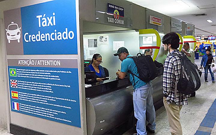 Local para pagar o táxi na Novo Rio