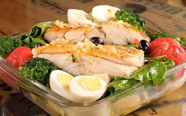 Prato de peixe Festival Gastronômico do mercadão