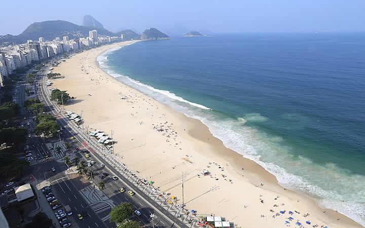 Vista aérea da Praia de Copacabana