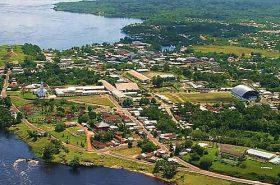 Vista aérea de Lavras em Minas Gerais
