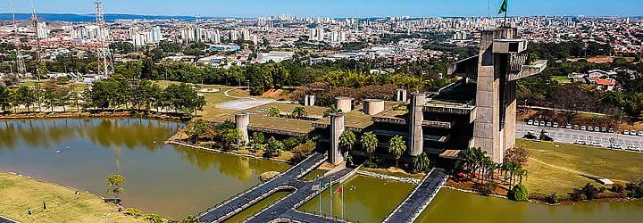 Vista aérea do Palácio dos Tropeiros em Sorocaba