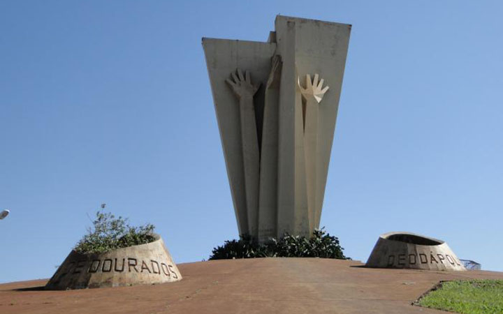 Monumento ao Colono em Dourados MS